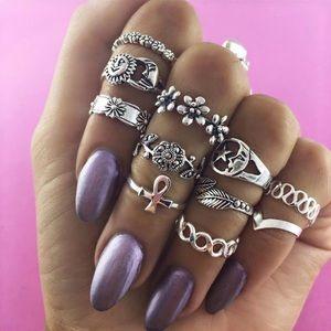 11 pc Boha Rings 💍